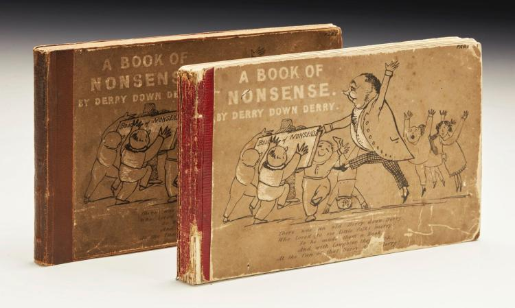 LEAR, EDWARD. A BOOK OF NONSENSE, 1846 (2 VOL.)