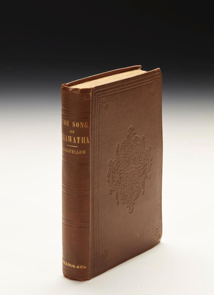 LONGFELLOW, HENRY WADSWORTH. THE SONG OF HIAWATHA, BOSTON, 1855 (1 VOL.)