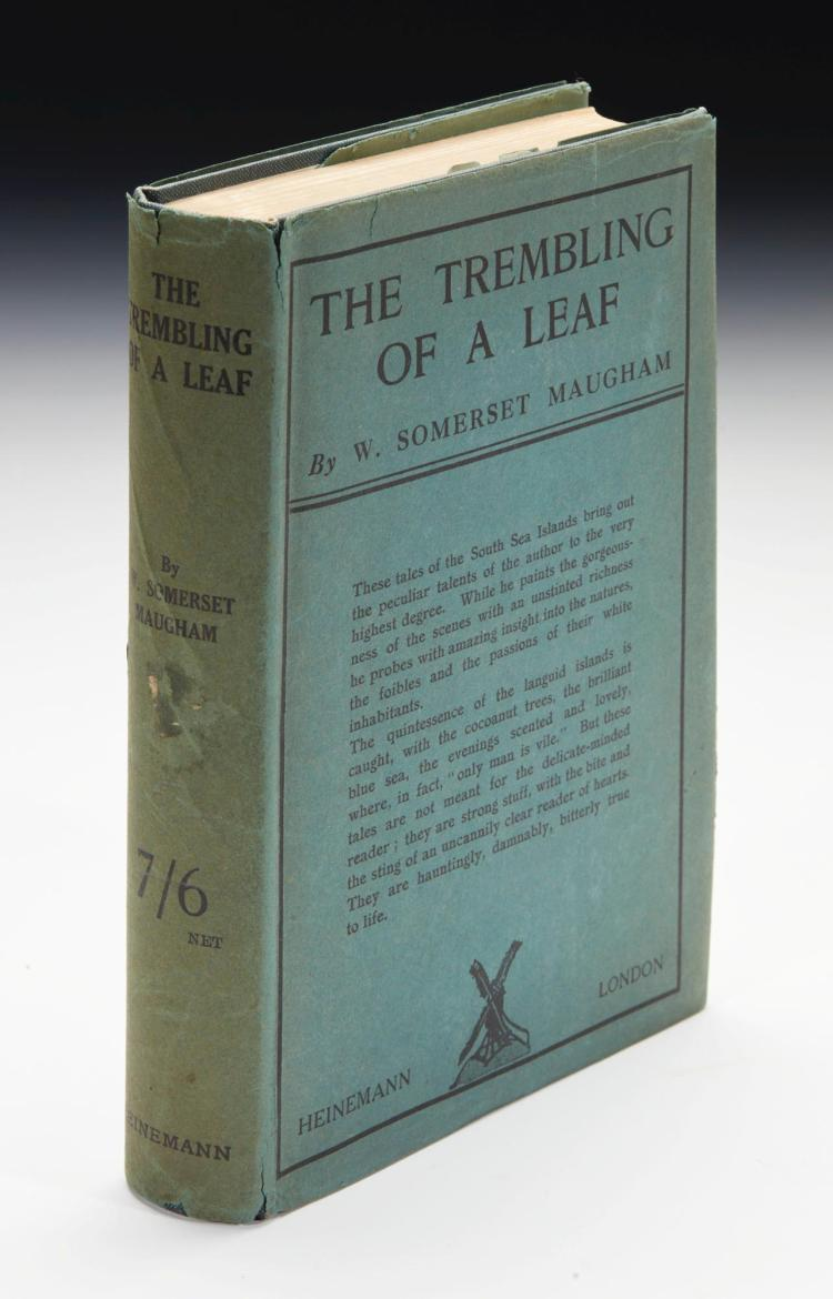 MAUGHAM, W. SOMERSET. THE TREMBLING OF A LEAF, 1921 (1 VOL.)