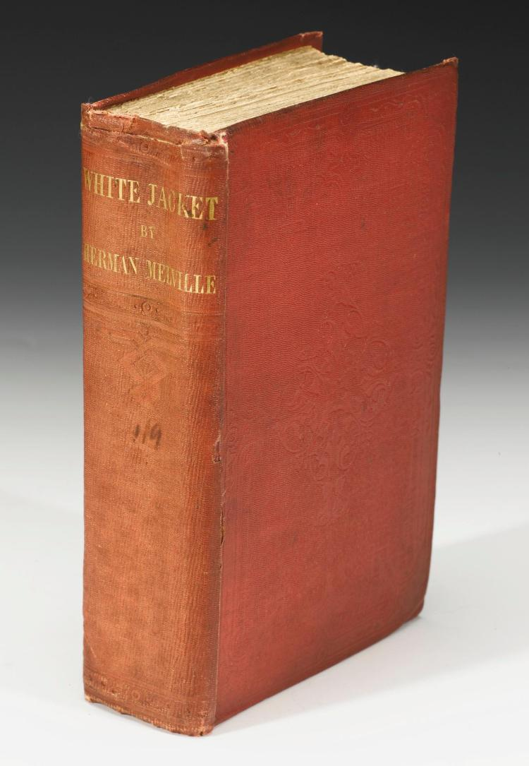 MELVILLE, HERMAN. WHITE JACKET, 1853 [1850], REMAINDER ISSUE OF THE FIRST EDITION (1 VOL.)
