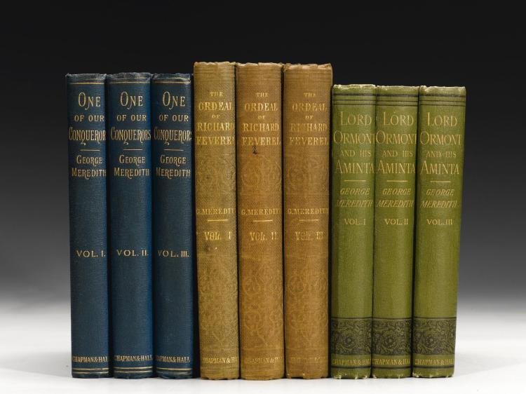 MEREDITH, GEORGE. FIVE WORKS IN 14 VOLUMES, 1859-1880 (14 VOL.)