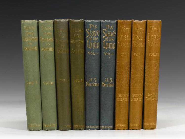 MERRIMAN, HENRY SETON. FOUR FIRST EDITIONS IN 9 VOLUMES, 1892-1894 (9 VOL.)