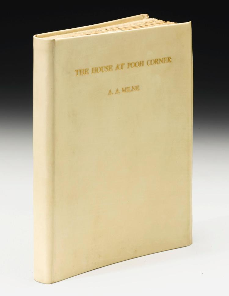 MILNE, A.A. THE HOUSE AT POOH CORNER, 1928, FIRST EDITION, NUMBER 18 OF 20 COPIES (1 VOL.)