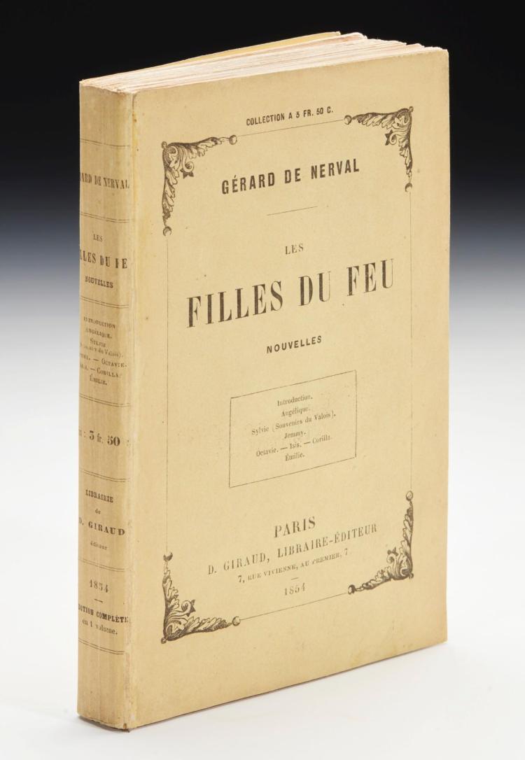 NERVAL, GÉRARD DE. LES FILLES DU FEU, 1854, ORIGINAL WRAPPERS (1 VOL.)