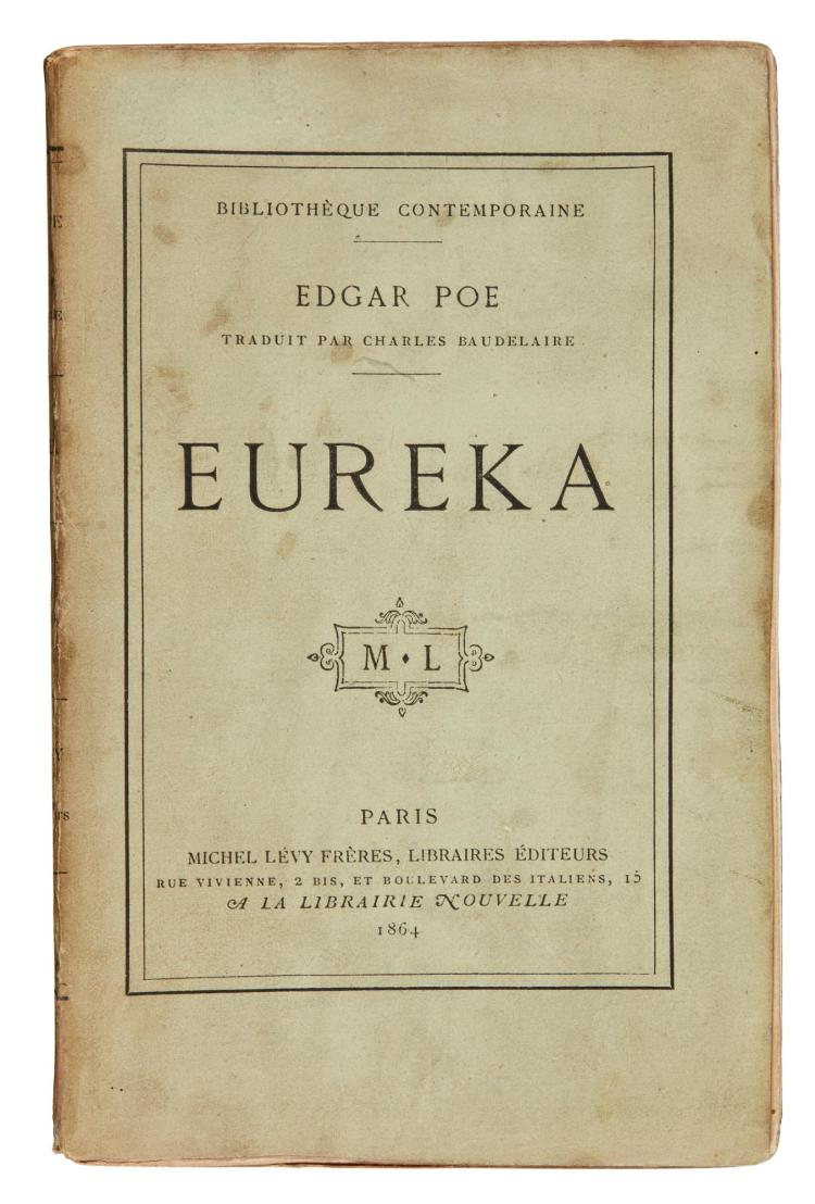 POE, EDGAR ALLAN. EUREKA, TRANSLATED BY BAUDELAIRE, 1864, ORIGINAL WRAPPERS (1 VOL.)