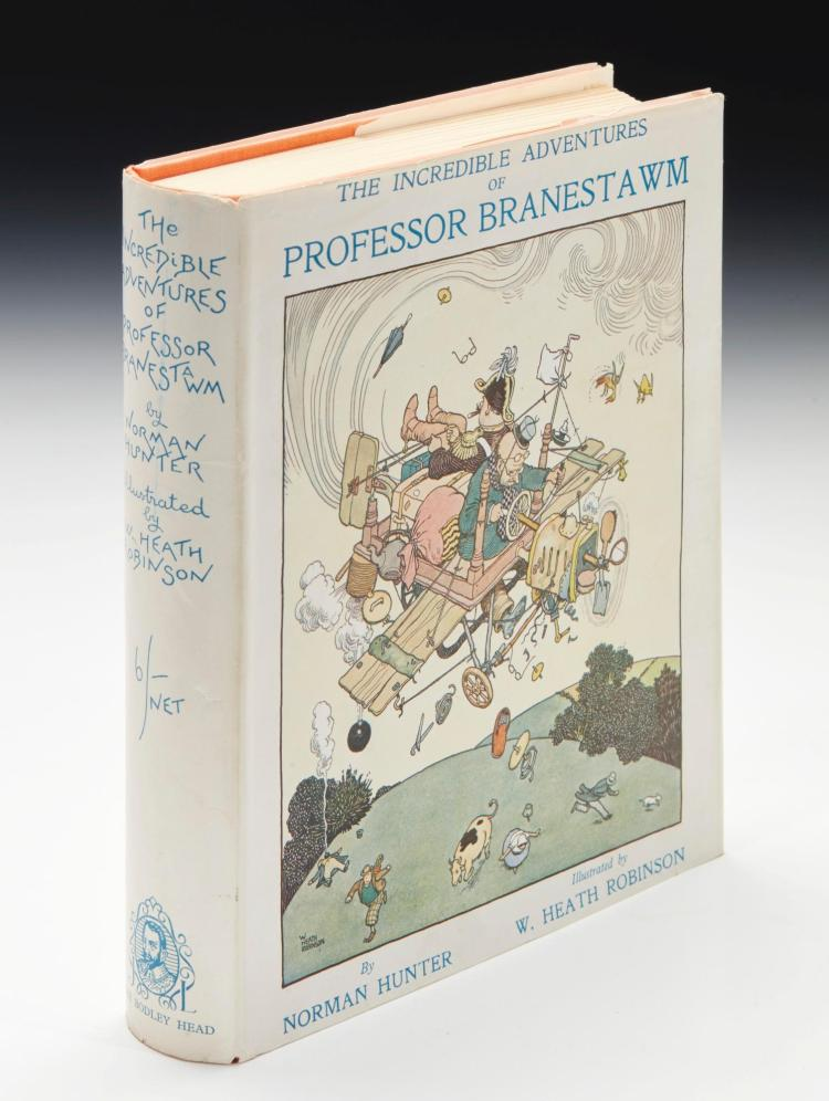 ROBINSON, W. HEATH--HUNTER, NORMAN. THE INCREDIBLE ADVENTURES OF PROFESSOR BRANESTAWM, 1933 (1 VOL.)
