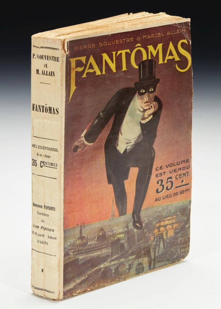 SOUVESTRE, PIERRE AND MARCEL ALLAIN. FANTÔMAS, [1911], ORIGINAL WRAPPERS (1 VOL.)