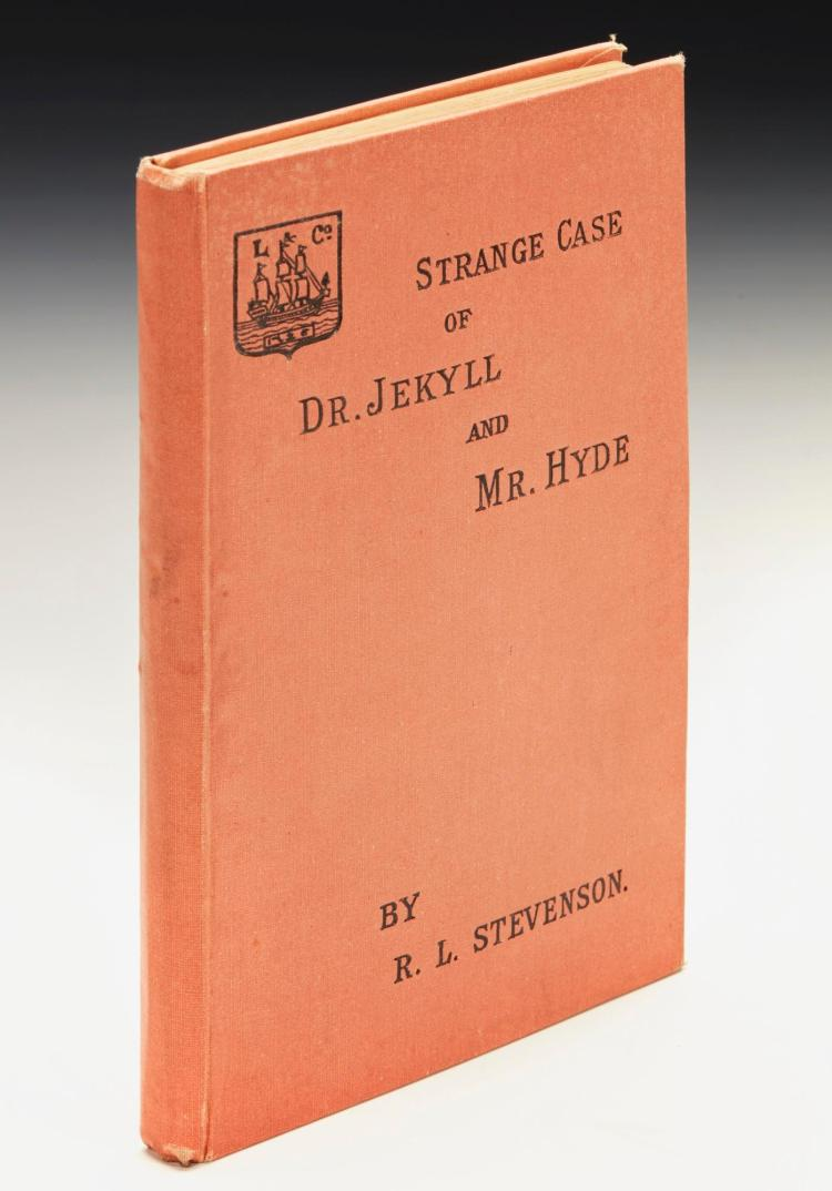 STEVENSON, ROBERT LOUIS. STRANGE CASE OF DR JEKYLL AND MR HYDE, 1886 (1 VOL.)