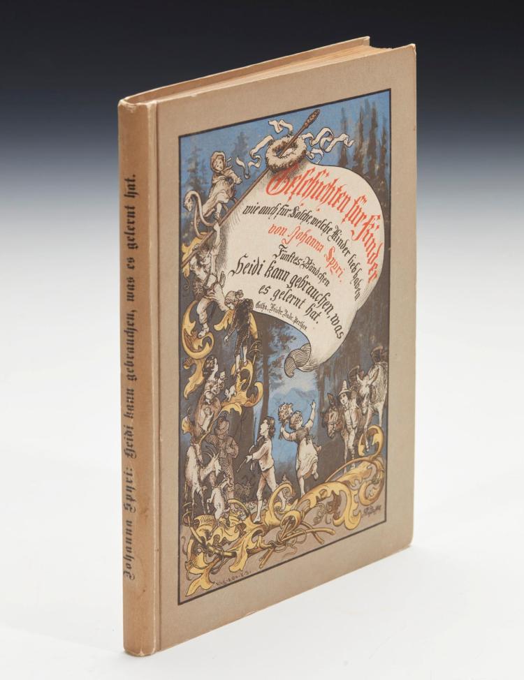 SPYRI, JOHANNA. HEIDI KANN BRAUCHEN, WAS ES GELERNT HAT, 1881 (1 VOL.)