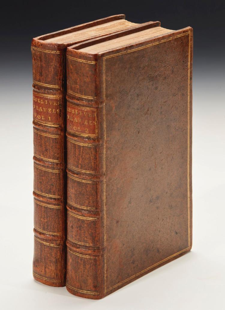 SWIFT, JONATHAN. GULLIVER'S TRAVELS, 1726, B EDITION (2 VOL.)