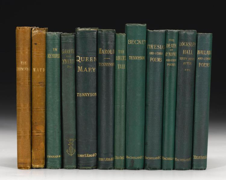 TENNYSON, COLLECTION OF 12 WORKS, 1847-1892 (12 VOL.)