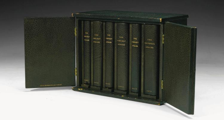 WALTON, IZAAK. SIX EDITIONS OF THE COMPLEAT ANGLER, 1653-1676 (6 VOL.)