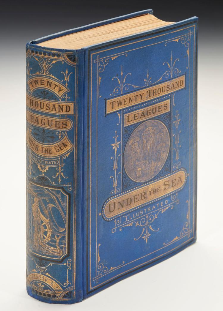 VERNE, JULES. TWENTY THOUSAND LEAGUES UNDER THE SEAS, 1873 (1 VOL.)