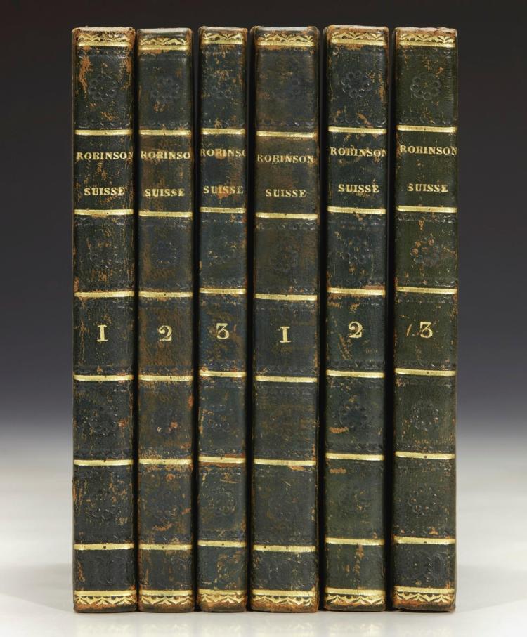 WYSS, JOHANN DAVID. LE ROBINSON SUISSE, 1824 (6 VOL.)
