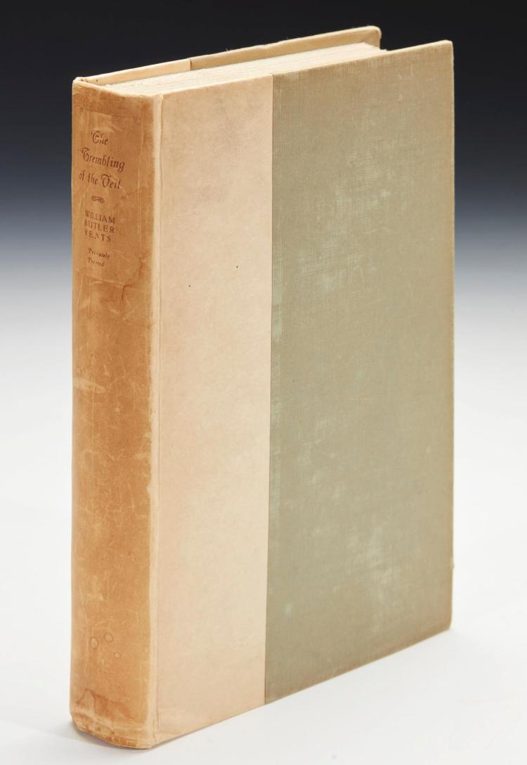 YEATS, W.B. THE TREMBLING OF THE VEIL, NUMBER 848 OF 1000 COPIES, 1922