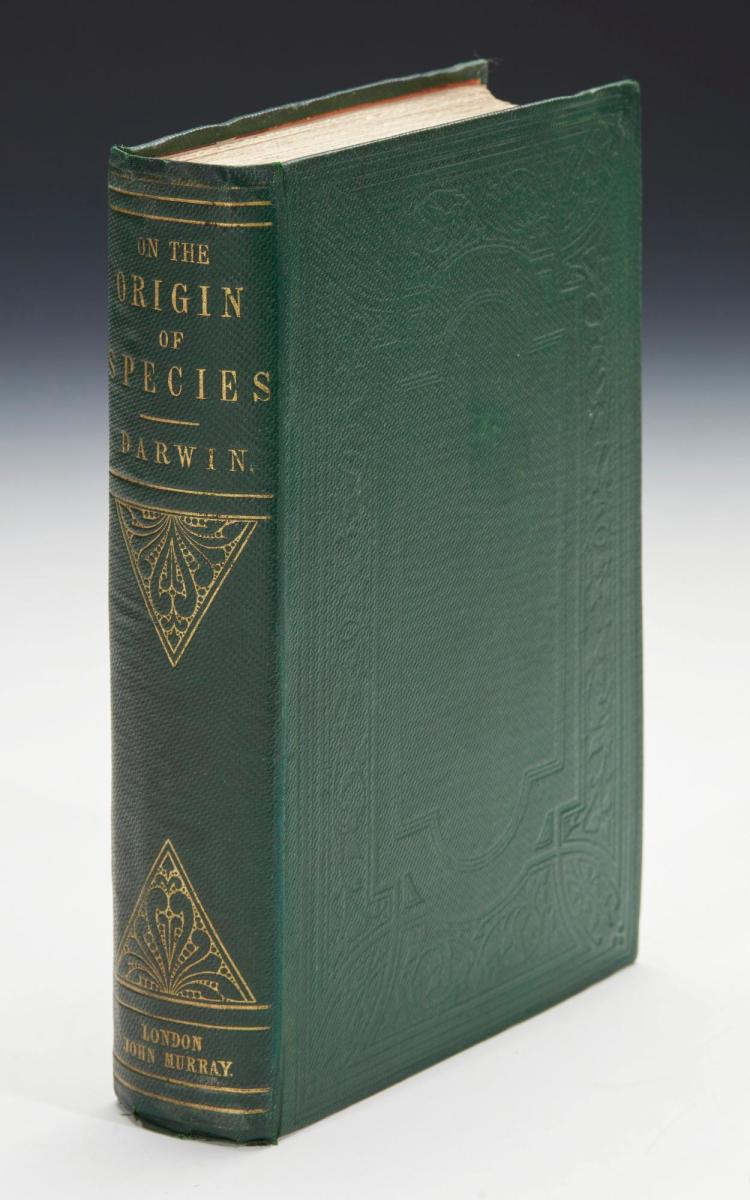 DARWIN, CHARLES. ON THE ORIGIN OF SPECIES BY MEANS OF NATURAL SELECTION, 1860 (1 VOL.)