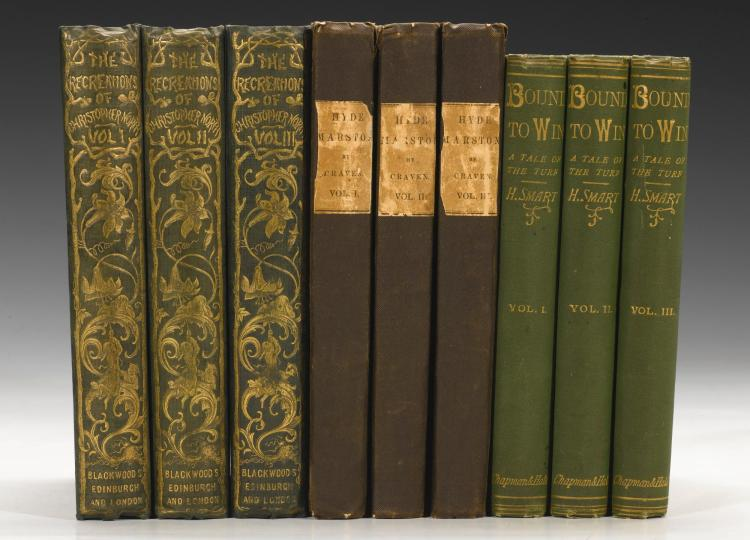 SPORTING NOVELS. 3 WORKS IN 9 VOLUMES, 1842-1877 (9 VOL.)
