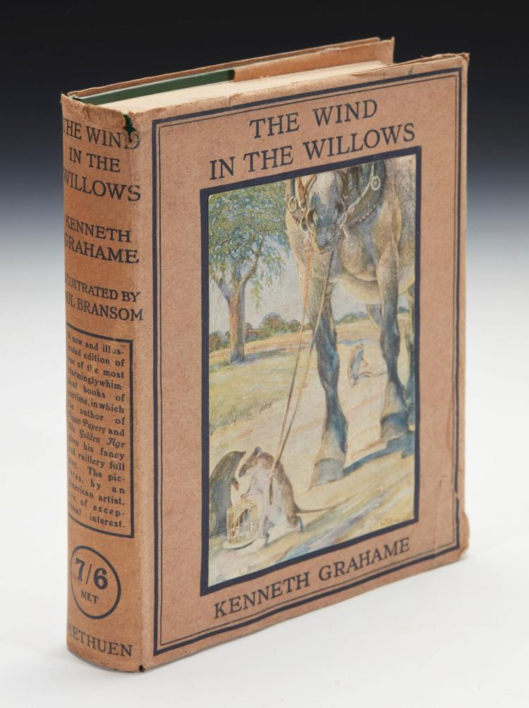 GRAHAME, KENNETH. THE WIND IN THE WILLOWS, 1913, ILLUSTRATED BY PAUL BRANSOM (1 VOL.)