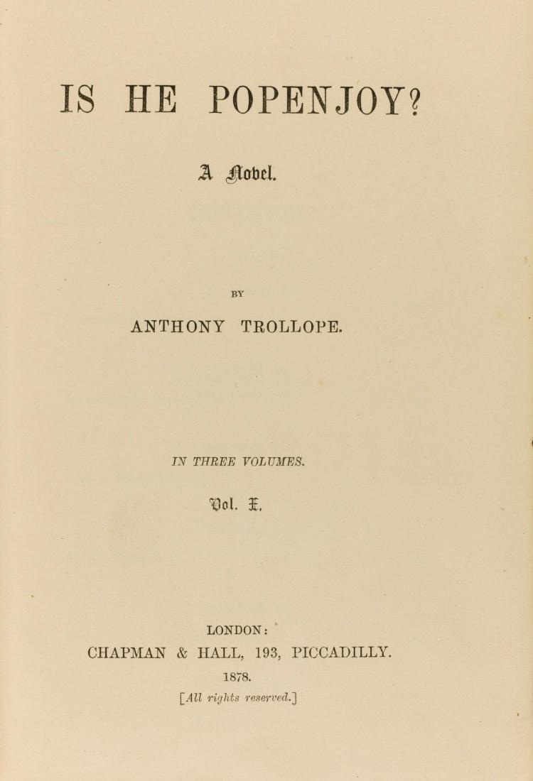 TROLLOPE, ANTHONY. IS HE POPENJOY?, 1878 (3 VOL.)