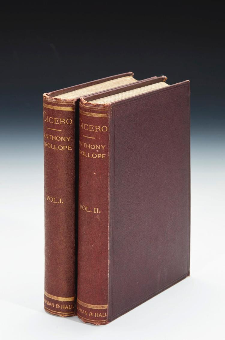 TROLLOPE, ANTHONY. THE LIFE OF CICERO, 1880 (2 VOL.)