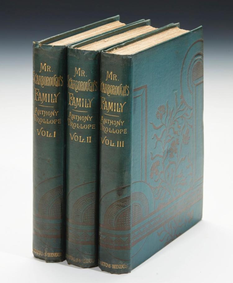 TROLLOPE, ANTHONY. MR SCARBOROUGH'S FAMILY, 1883 (3 VOL.)