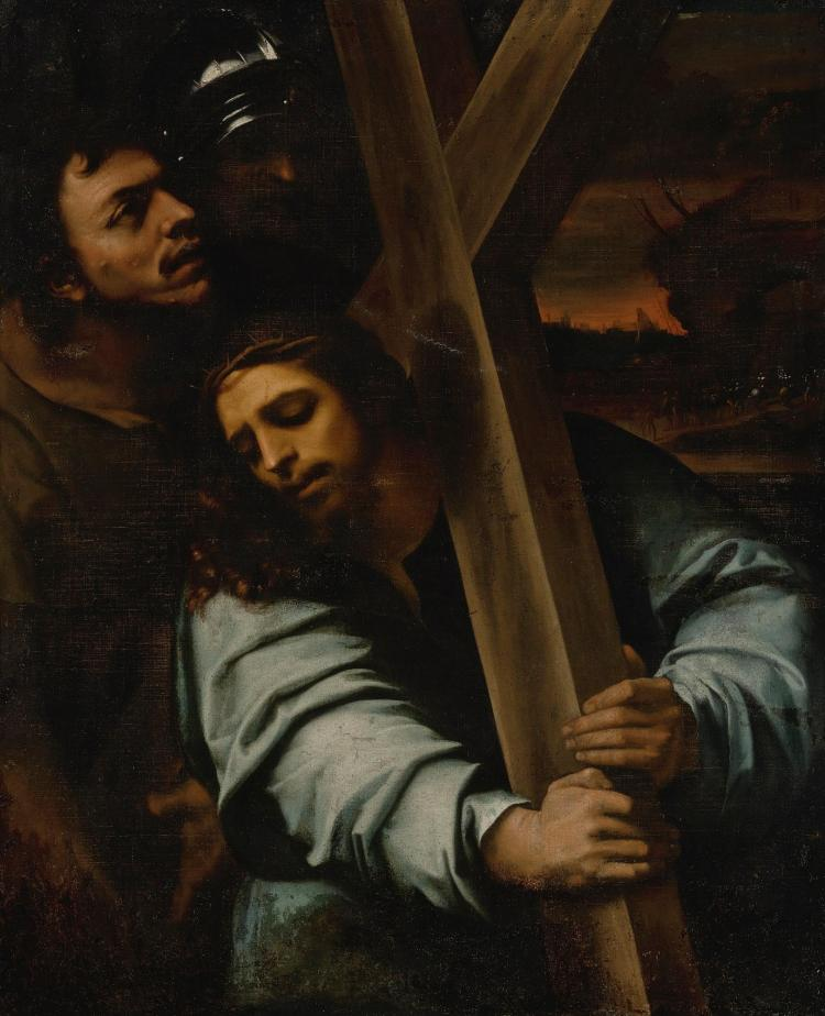 ATTRIBUTED TO FRANCISCO RIBALTA, AFTER SEBASTIANO DEL PIOMBO | Christ Carrying the Cross