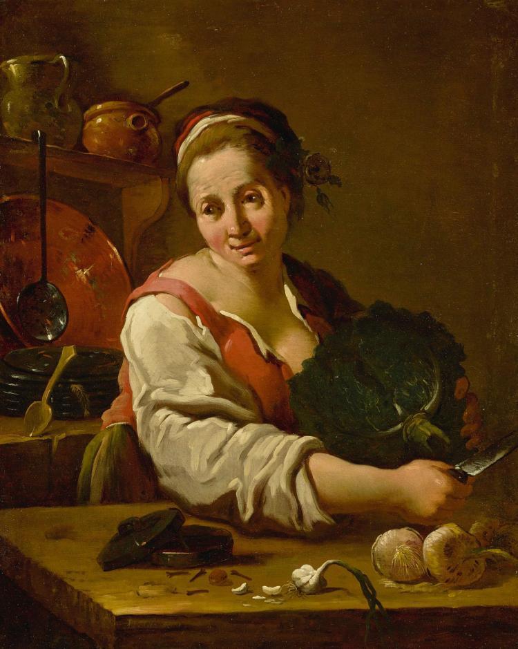 PIETRO DOMENICO OLIVERO | Portrait of a cook in a kitchen