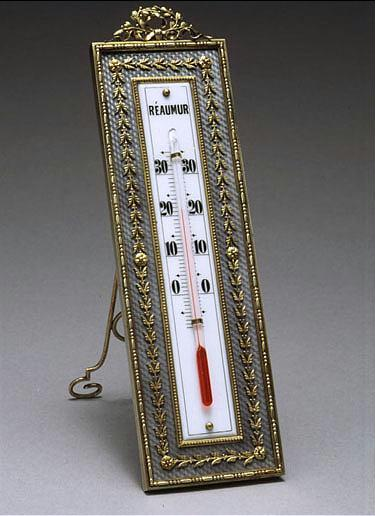 A Faberge gilded silver, gold and translucent enamel thermometer, workmaster Johan Victor Aarne, St. Petersburg,