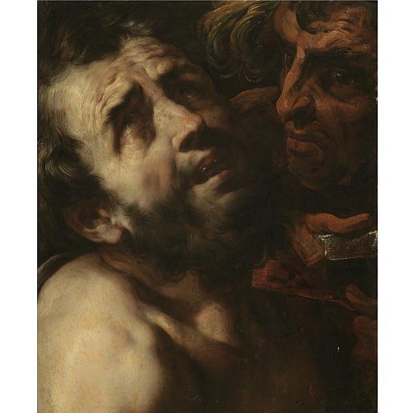 Daniele Crespi Busto Arsizio circa 1597 - 1630 Milan , Saint Bartholomew oil on panel