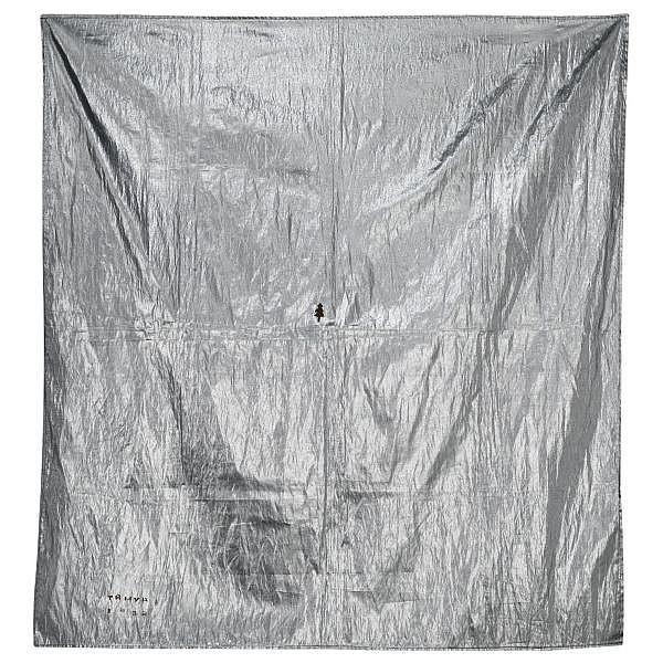 Timur Novikov , Russian 1958-2002 Silver Age, 1989   acrylic on textile