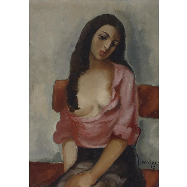 Mané-Katz , Russian 1894-1962 Portrait of a Woman, 1925 oil on canvas