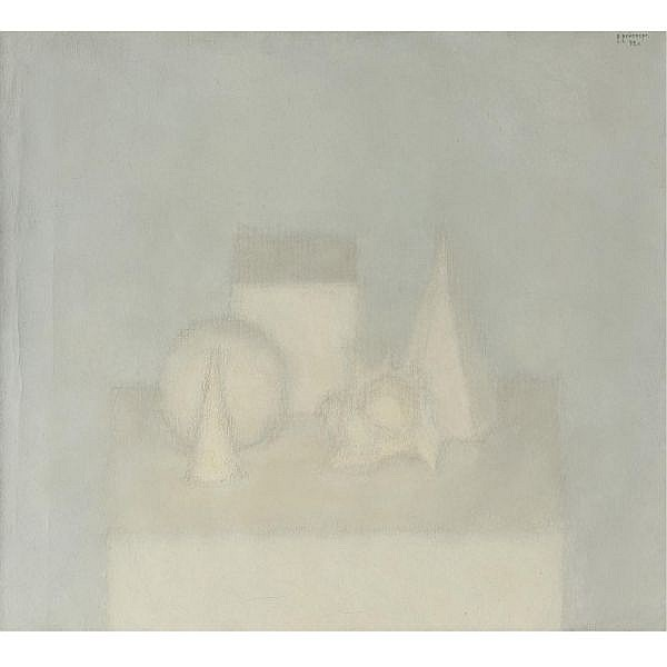 Vladimir Weisberg , Russian 1924-1985 Composition with Shell, 1972 oil on canvas