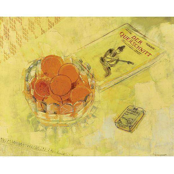 Yuri Pavlovich Annenkov , Russian 1889-1974 Still Life with Oranges oil on canvas