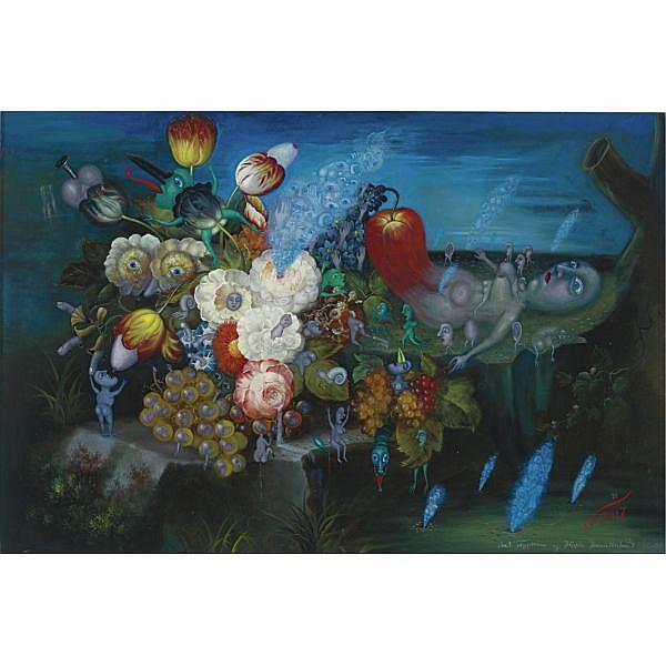 Leonid Purygin , Russian 1951-1996   Birth, 1991 oil on canvas