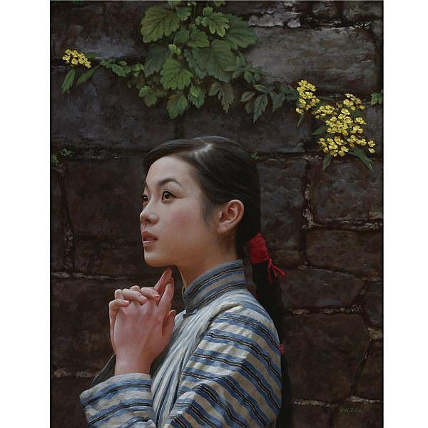 Shen Hanwu , b. 1950 Untitled oil on canvas