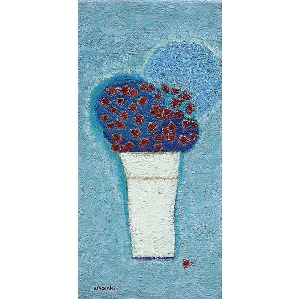 Kim Whanki , 1913-1974   Petite Rose   oil on canvas