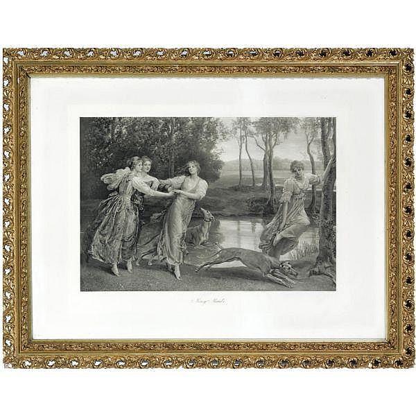 After Anna Lea Merritt, 1844-1930 , Merry Maids 96 by 123 cm.