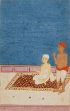 A NOBLEMAN WITH ATTENDANT, INDIA, HYDERABAD, 18TH/19TH CENTURY |