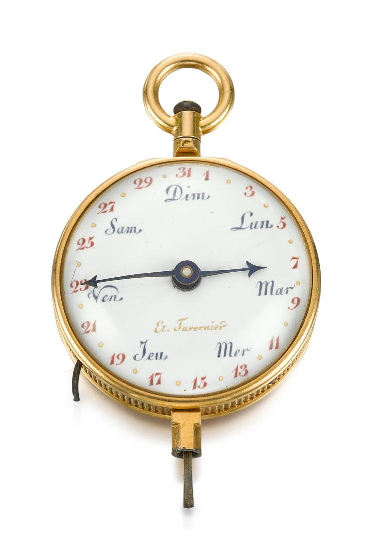 TAVERNIER | A GOLD KEY WITH CALENDAR AND MOON-PHASES CIRCA 1800