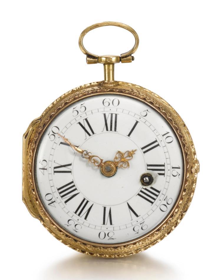 BAILLON | A GOLD AND ENAMEL VERGE WATCH CIRCA 1760