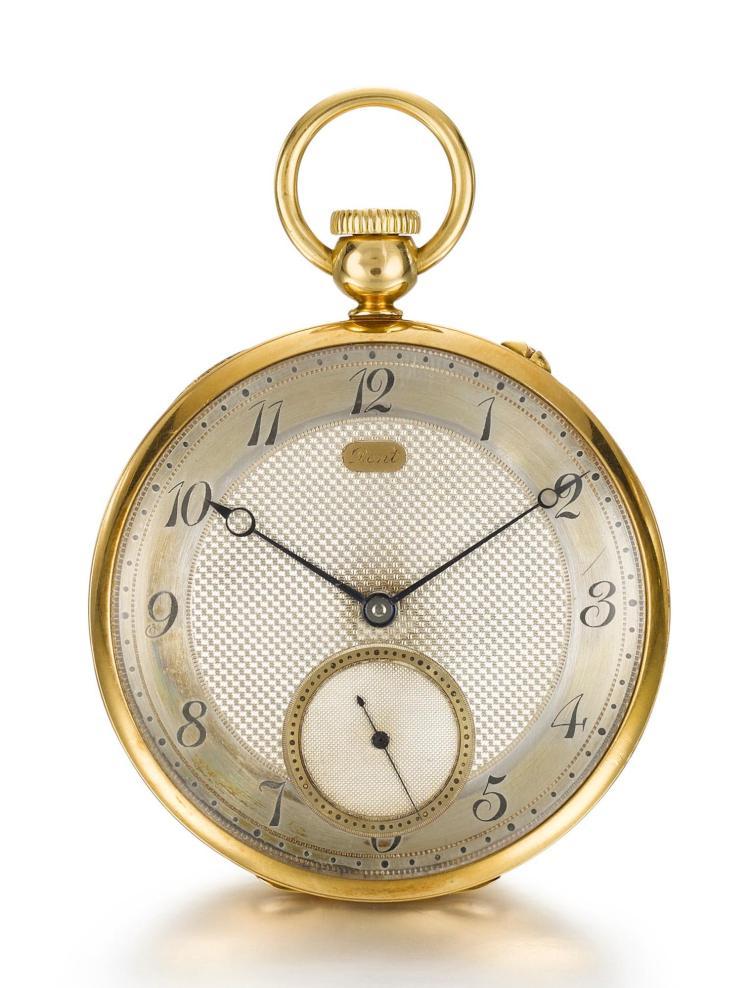DENT | A YELLOW GOLD OPEN-FACED KEYLESS LEVERWATCH NO. 32997 CIRCA 1906