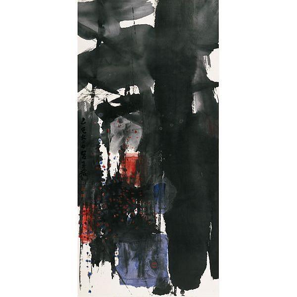 Lü Shoukun 1919-1975 , ZEN ink and colour on paper, framed