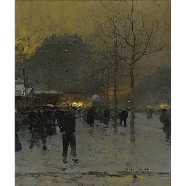 Luigi Loir oil on canvas
