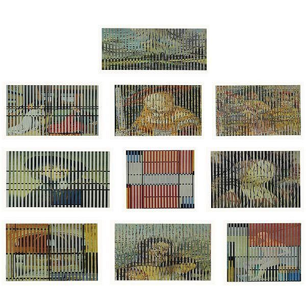 - Jiri Kolar , 1914-2002 Hommage a Mondrian 10 collage of prints laid down on card