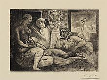 PABLO PICASSO   Quatre femmes nues et tête sculptée (Bloch: 219; Baer: 424)