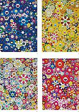 TAKASHI MURAKAMI   i. An Homage to IKB 1957 C<br />ii. An Homage to Monogold 1960 C<br /> iii. An Homage to Yves Klein Multicolor 1957 C <br />iv. An Homage to Monopink 1960 C <br />(four works)