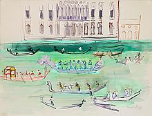 RAOUL DUFY   Gondoles sur le Grand Canal