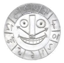 PABLO PICASSO   Visage en forme d'horloge