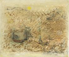 ZAO WOU-KI (ZHAO WUJI)   Les bateaux