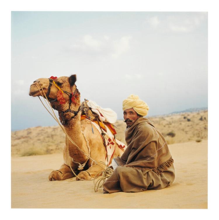 TARUN CHOPRA (B. 1958) | 'Camel Driver'(Manwar Desert)